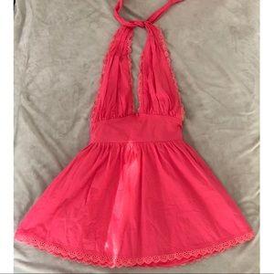 Pink halter boutique dress.